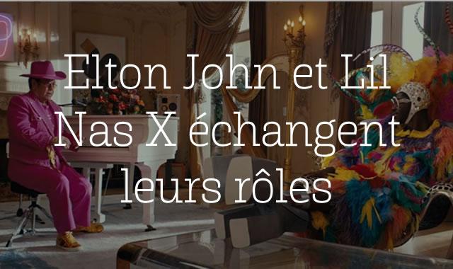 Elton John et Lil Nas X échangent leurs rôles dans cette campagne Uber Eats